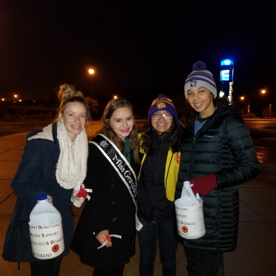 These Grayslake Central Students from the Public Service Practicum Class actually got up at 0400, dressed and showed up with a smile to help us at our November Poppy Distribution at the Metra Platforms.