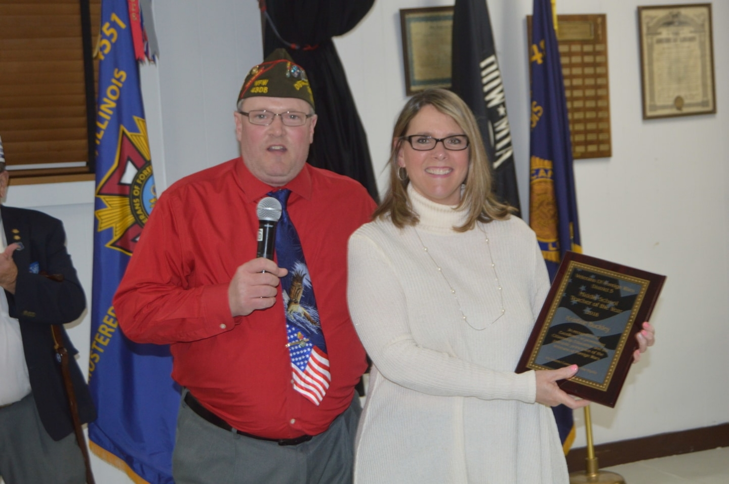 St Gilbert Catholic School Teacher Kristine Buckley, selected as VFW Teacher Middle School Teacher of the Year. 