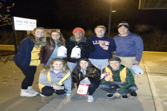 When your high school student tells you they can't get up for school --- show them this photo. These student volunteers, got out of bed at 0430, arrived at Prarie Crossing Metra at 0500, and worked to help with our Poppy Distribution. Way to go!