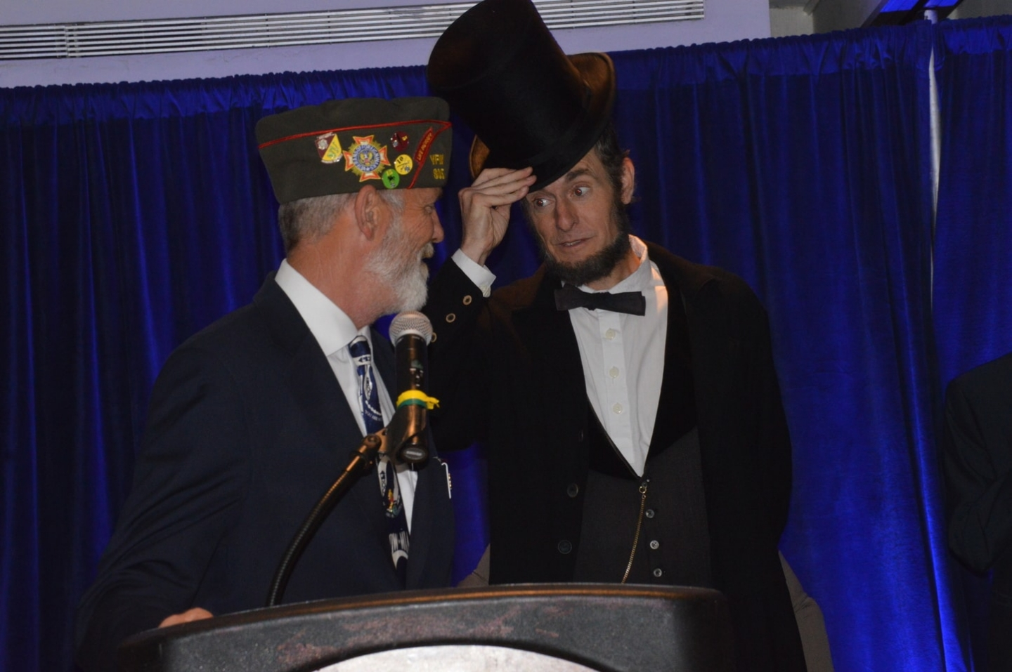 Abe Visits Commander Hastings at Convention